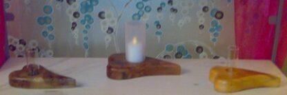 Heart shaped Wooden Bud Vase