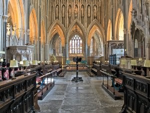 """Wells Cathedral - print 20.5"""" x 15.5"""""""