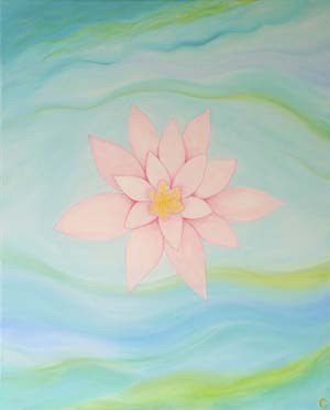 """Lotus : Abbey Pond"" giclee print 20"" x 24"""
