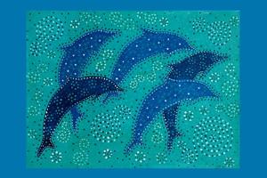 Dolphin Dance - giclee print