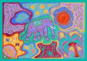 Elephant Dream Time - giclee print