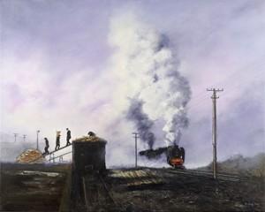 The Train - print on canvas