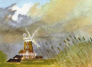 Windmill, Cley next the Sea, Norfolk- giclee print
