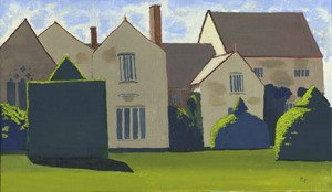 Lytes Cary Manor - framed giclee canvas print