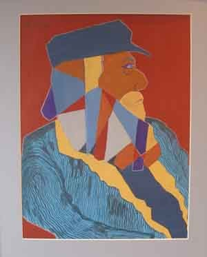 Glastonbury Ted, Acrylic, 53 x 43 cms