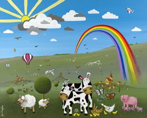 Balloon Rainbow (landscape) - giclee print