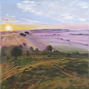 Somerset Levels from Burrow Mump - original