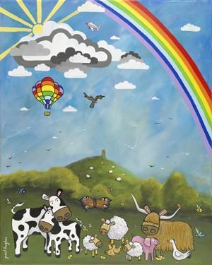Balloon Rainbow (portrait) - giclee print