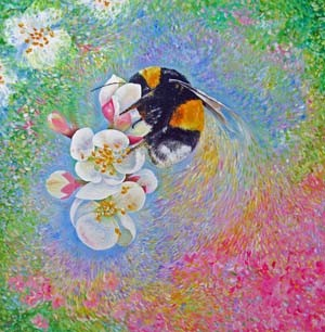 Apple Blossom Bombus - giclee print from £45