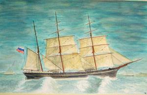 Barque Sjofroken - giclee print