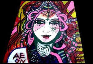 Ayahuasca Goddess A4 size giclee print