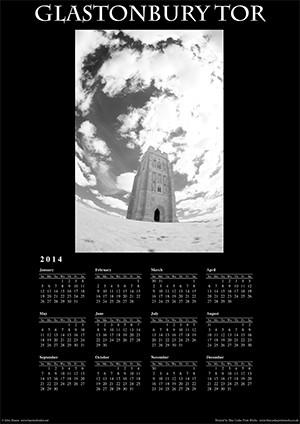Glastonbury Tor 2014 Wall Calendar