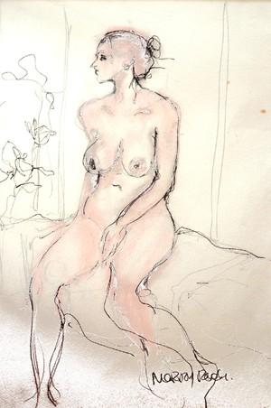 Standing, Back View, Pink, unframed original