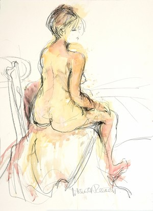 Seated Nude, framed original