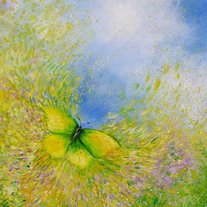 Yellow Butterfly - giclee print from £45