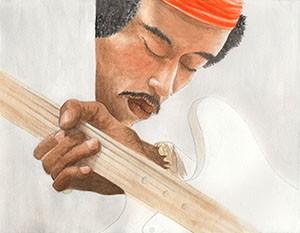 Jimi Hendrix- A3 giclee print