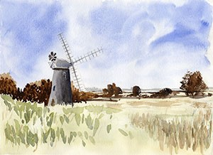 Windmill - A3 giclee print