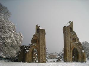 Wintertime in the Abbey - Giclee Print