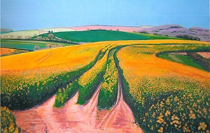 Rapeseed, West Charlton, Devon, original acrylic