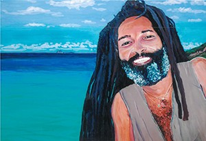Rasta, St Martin, West Indies, original acrylic