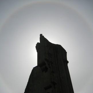 Sun's aura around the Abbey ruins Giclee Print